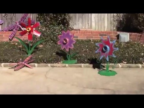 Upcycled yard art ideas DIY Garden Metal Sculptures by Raymond Guest