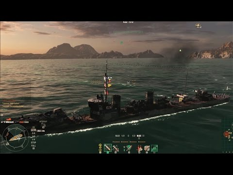 World of Warships: Minekaze 4 Kills Confederate Liquidator Devastating Strike High Caliber