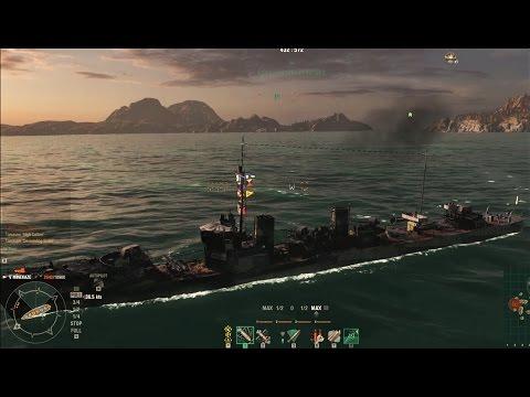 World of Warships: Minekaze 4 Kills Confederate Liquidator Devastating Strike High Caliber