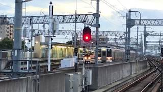 ハイビーム!JR東海211系0番台 K52編成 (普通名古屋行き) 八田発車