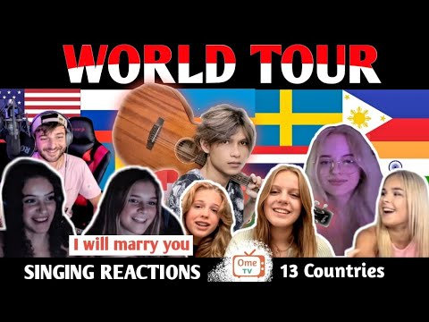 Indonesian singer World Tour to 13 Countries and sing in 13 different Languages   SINGING REACTIONS
