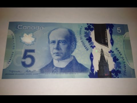 New Canadian $5 Bill