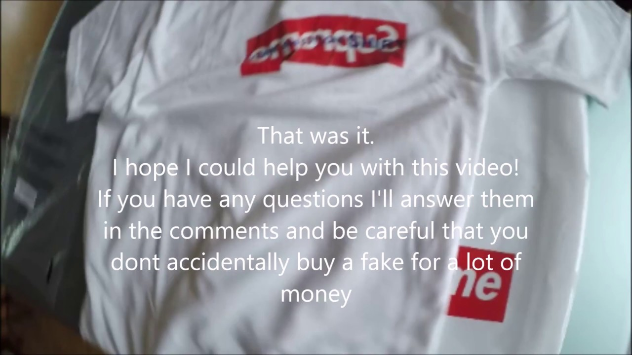 Supreme CDG Boxlogo Tee Legit Check - YouTube