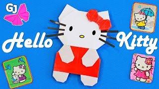 Оригами кошка Китти из бумаги