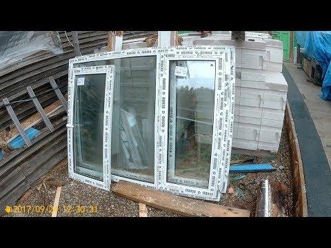 Ставим пластиковые окна в брусовой деревенский дом.