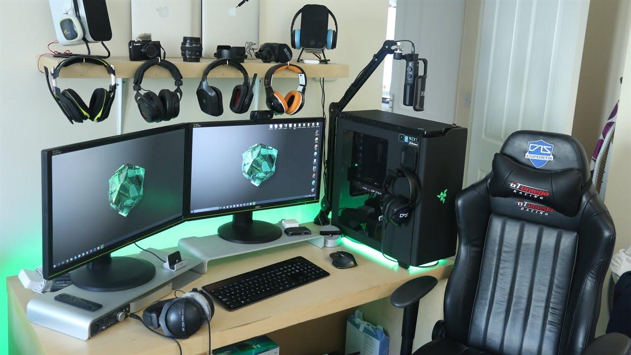 My Epic Gaming Setup Amp Desk Workstation Tour Autumn 2015
