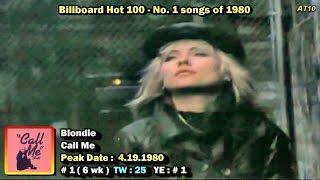 Billboard hot 100 #1 songs of 1980 [1080p hd]