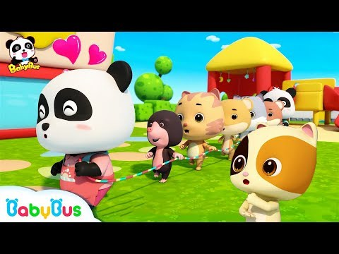 Baby Panda Plays Games in Kindergarten | Workout for Kids | Panda Cartoon | Sharing Song | BabyBus