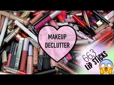 MAKEUP COLLECTION DECLUTTER 2016 | LIPS