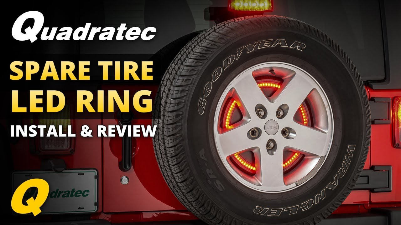 Jeep Wheel Tire Packages Quadratec >> Quadratec Spare Tire Led Brake Light Ring Install Review For 2007