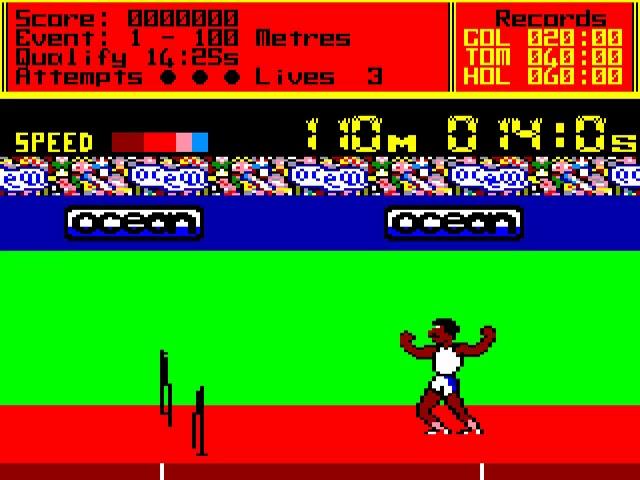 Jouez à Daley Thompson's Decathlon sur Amstrad CPC grâce à nos bartops et consoles retrogaming