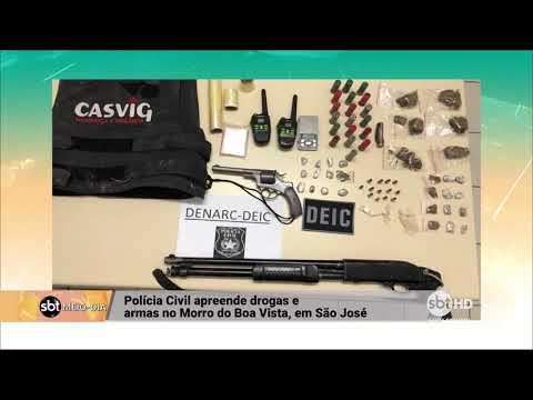 Polícia Civil apreende drogas e armas no Morro da Boa Vista, em São José