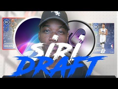 SIRI DRAFTS MY TEAM | NBA 2K18 PACK AND PLAYOFFS