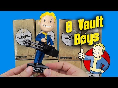Download Youtube: Opening 8 Mystery Vault Boy Bobbleheads