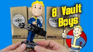 Opening 8 Mystery Vault Boy Bobbleheads