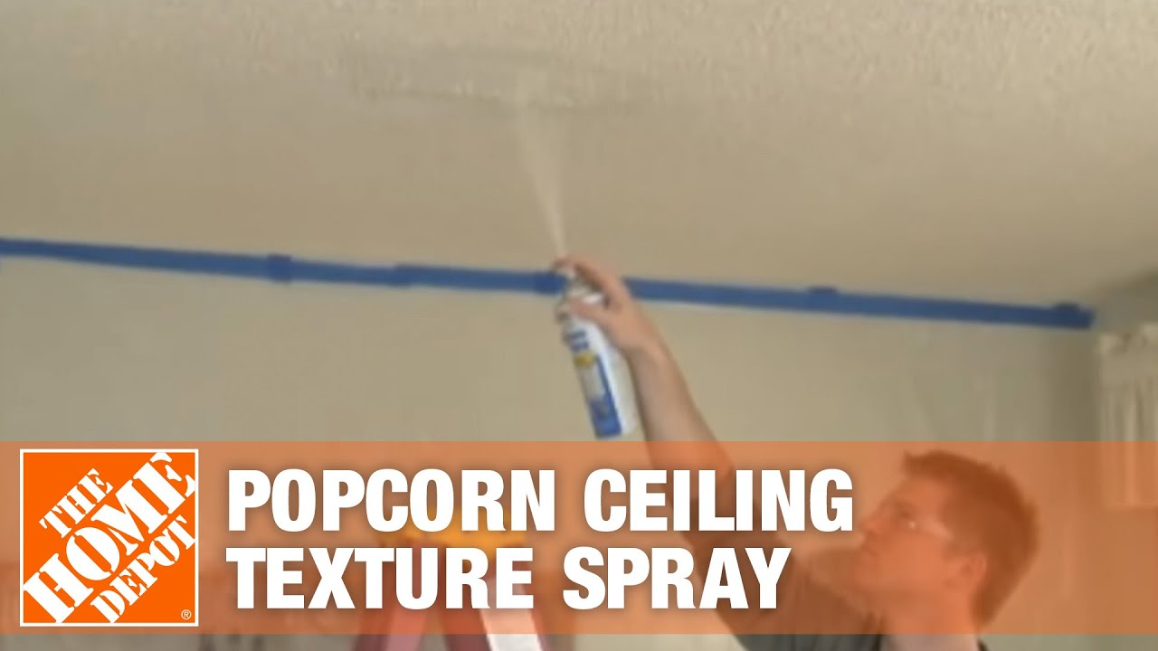 homax popcorn ceiling texture spray youtube. Black Bedroom Furniture Sets. Home Design Ideas