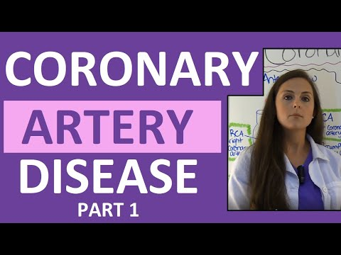 Coronary Artery Disease (CAD) Anatomy, Nursing, Heart Disease, Pathophysiology, Treatment Part 1