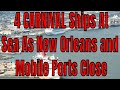 Live Cruise Ship News with TWB!  4 Carnival Ships Stranded at Sea Due To Hurricane Barry