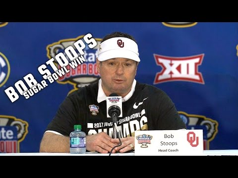 Hear what Oklahoma coach Bob Stoops said after Oklahoma's 35-19 win over Auburn