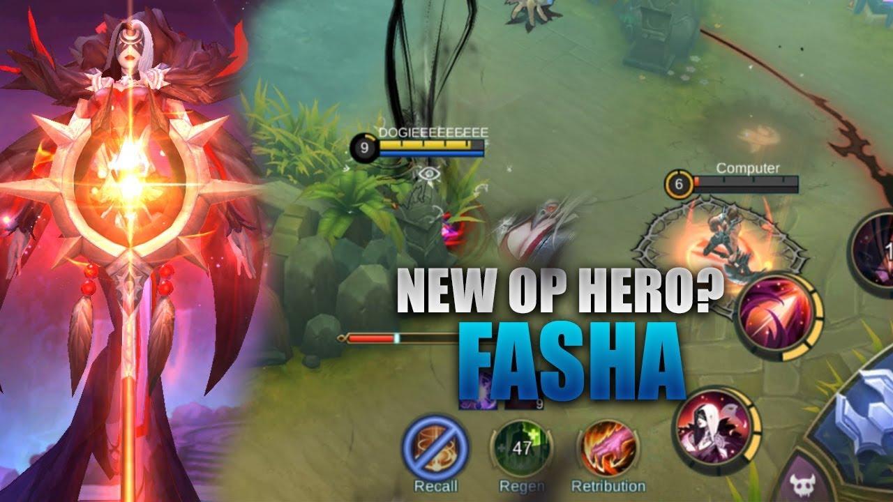 NEW HERO FASHA GAMEPLAY - MOBILE LEGENDS - 2000 DIAMONDS GIVEAWAY - GUIDE - RANK - FASHA