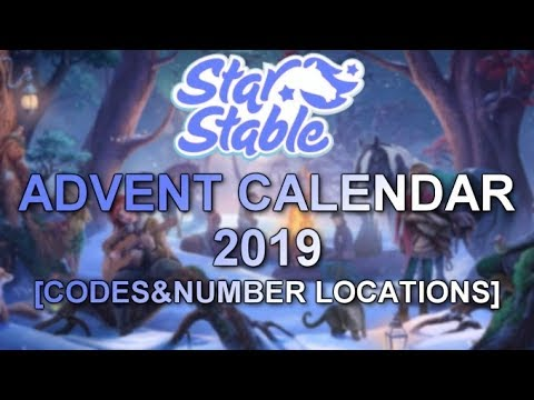 Christmas Calendar Sso 2020 Advent Calendar 2019 [codes & number locations]   STAR STABLE
