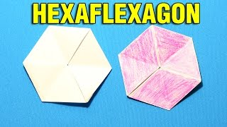 How to make a Flexagon Origami. How make Hexaflexagon. Флексагон, гексафлексагон оригами. ORGANZA