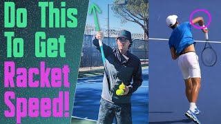 Get More Power on Your Serve With the Djokovic Elbow Snap!