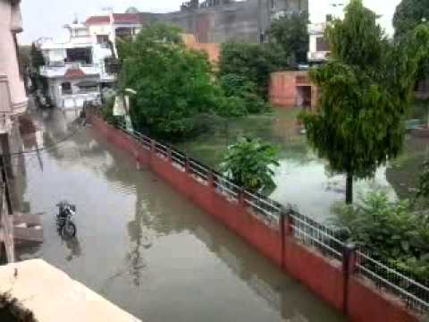 Rain in ROHTAK,HR. Jhang colony view.