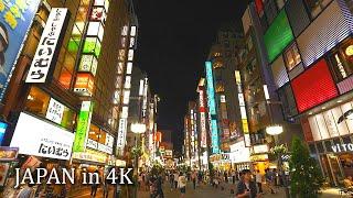 【4K】Night videowalk in East Shinjuku, Tokyo