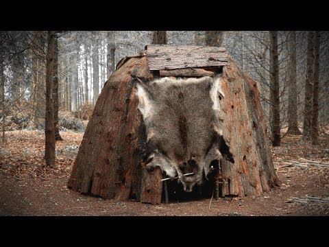 building-a-dome-hut:-bark-roof-bushcraft-shelter