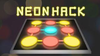 Neon Hack: Pattern Lock Puzzle