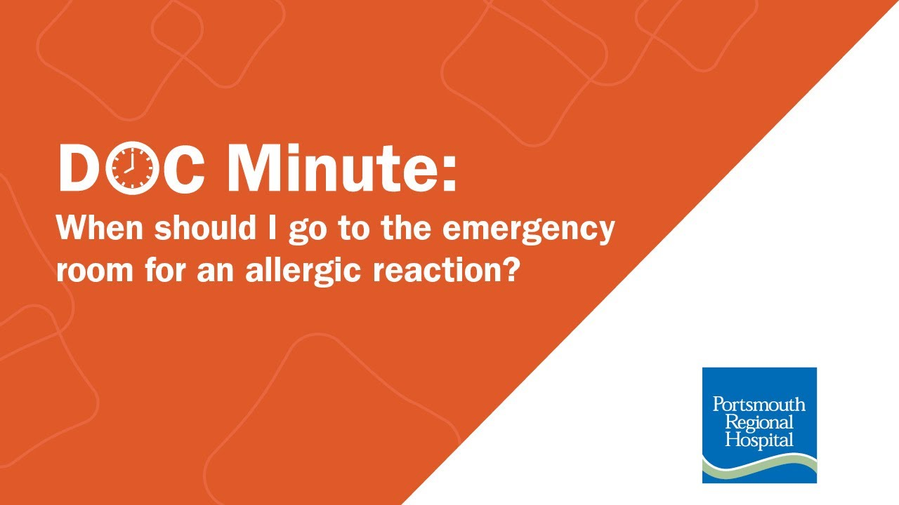 When Should I Go to the Emergency Room for an Allergic Reaction ...