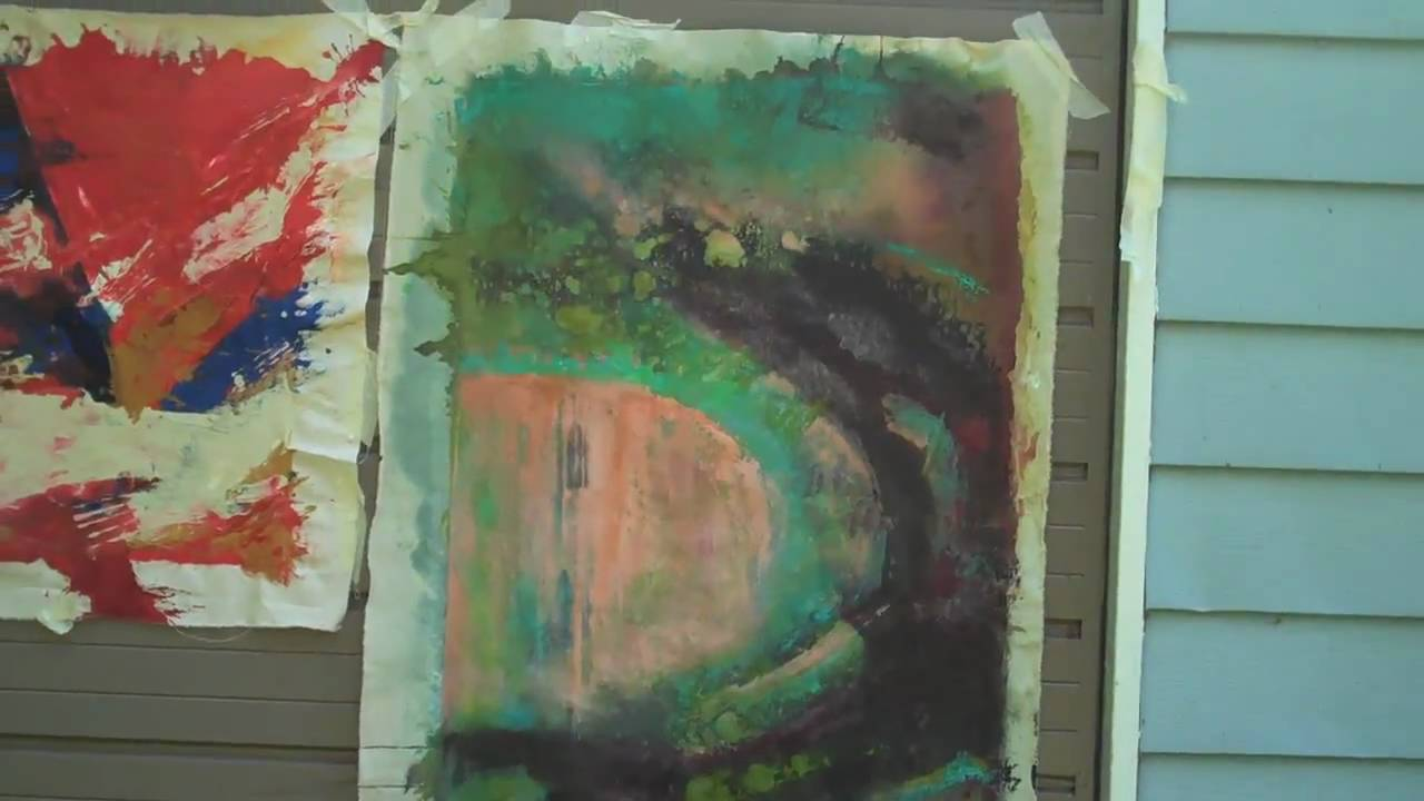 Painting on Raw Unstretched Canvas