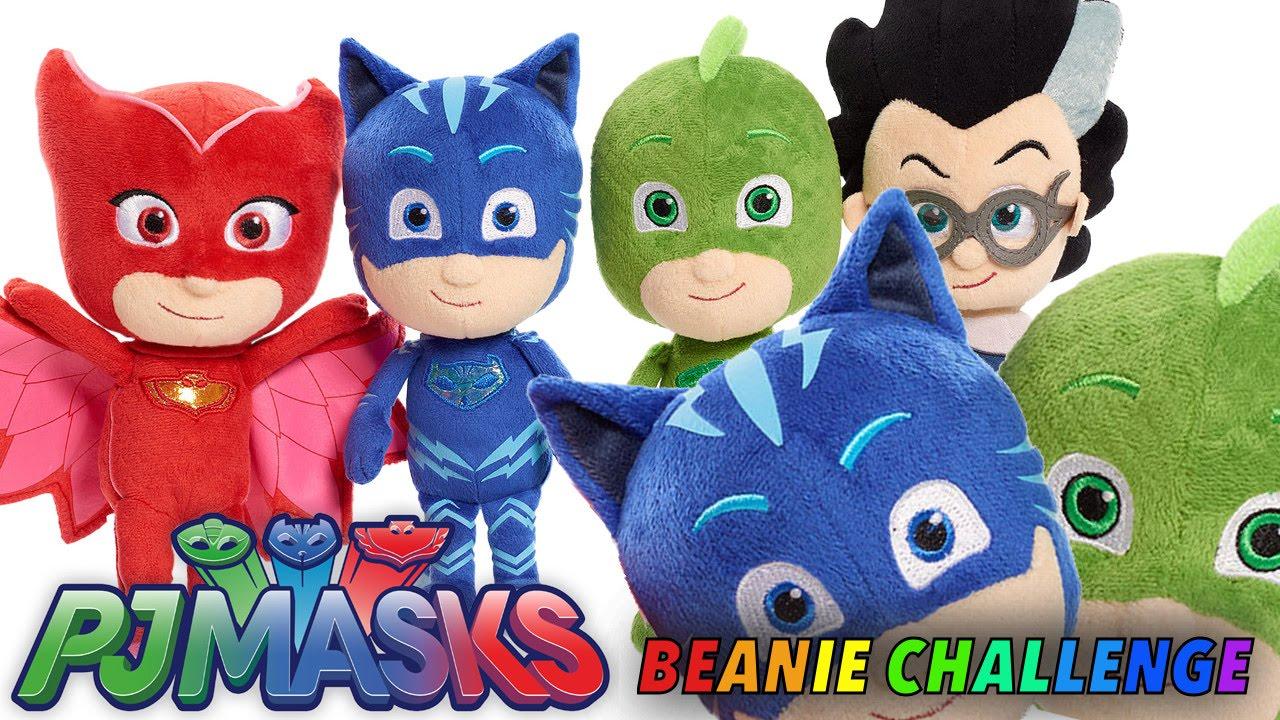 Lets Play PJ Masks Beanie Challenge W Bonus Black And White Heroes