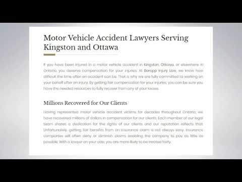 Drug Injury Lawyer Kingston - Barapp Personal Injury Lawyer