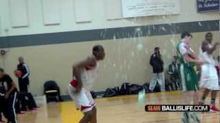 16 Year Old Cliff Alexander SHATTERS the backboard in game!! Glass everywhere!