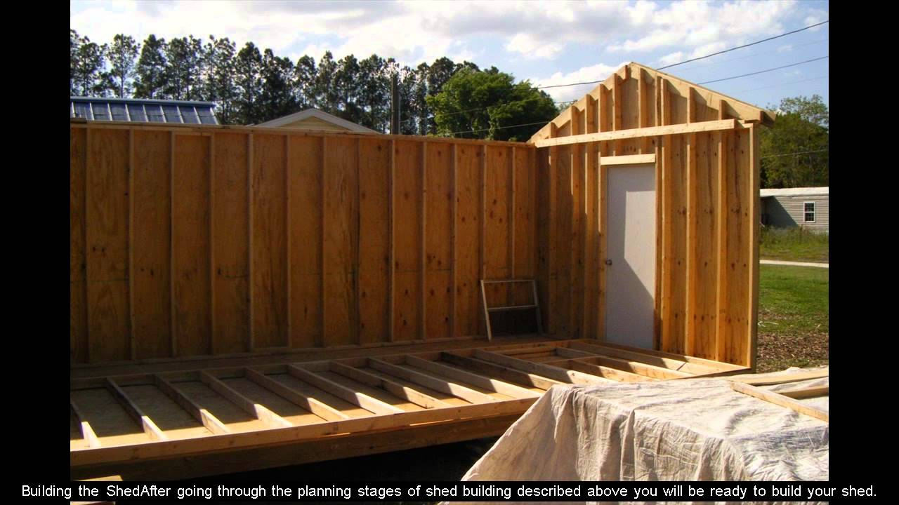 Shed Plans 8x10 Youtube