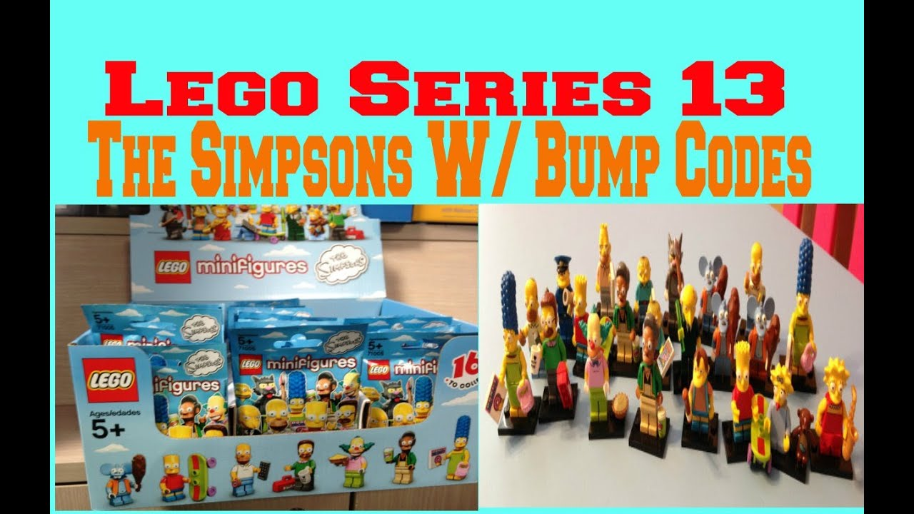 lego the simpsons minifigures series 13 with bump codes youtube. Black Bedroom Furniture Sets. Home Design Ideas