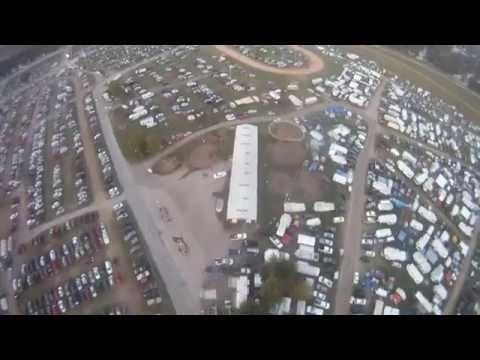 Walnut Valley Festival in Winfield Kansas Flyover