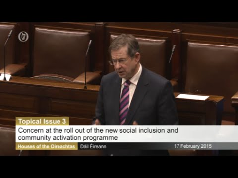 Ó Cuív questions Minister Alan Kelly on social inclusion & community activation programme