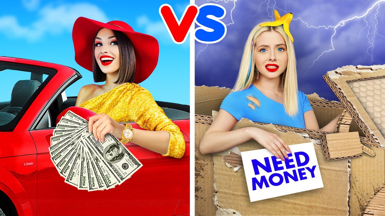 Rich Girl VS Broke Girl! | Crazy Food Battle with Rich and Poor Snacks by RATATA