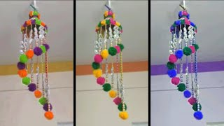 AWESOME JHUMER MAKING FROM PLASTIC BOTTLE & WOOLEN \ DIY - EASY JUMER CRAFT IDEA FROM WASTE BOTTLE