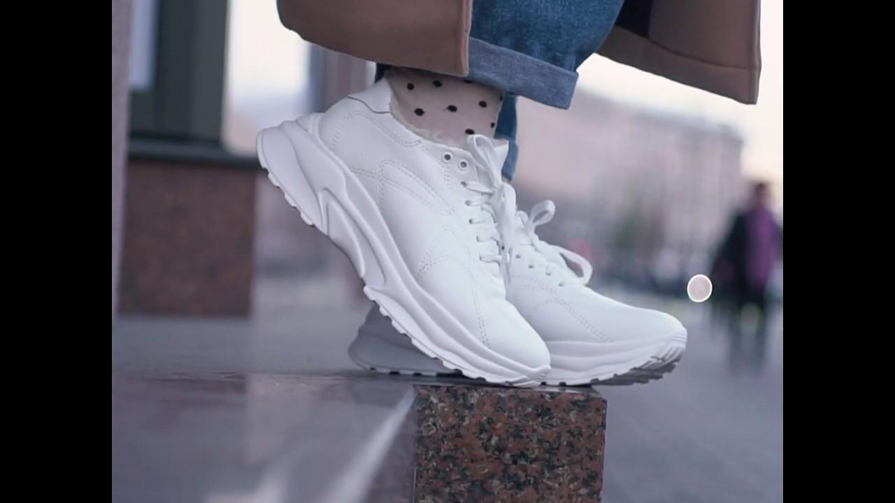 Белые зимние кроссовки с мехом Caruso Shoes (19-00909)