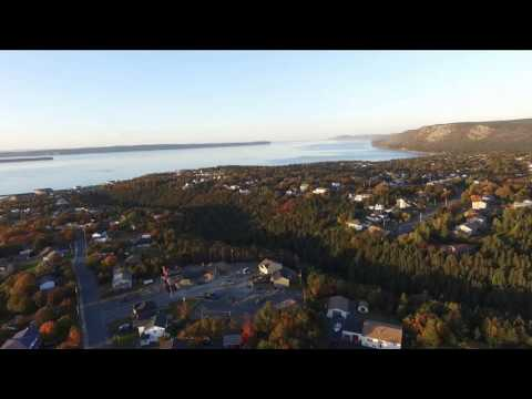 Aerial view of Conception Bay South. Topsail,Manuels, Chamberlains. Oct,2015