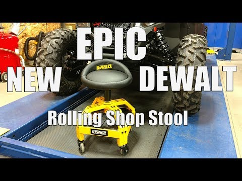 Epic New DEWALT Rolling Shop Stool | DXSTAH025