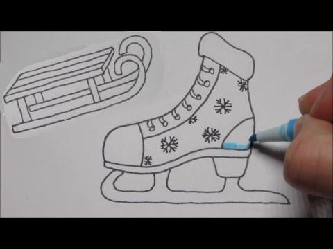 Leuke Schaatsen Amp Slee Tekenen In Stappen Youtube