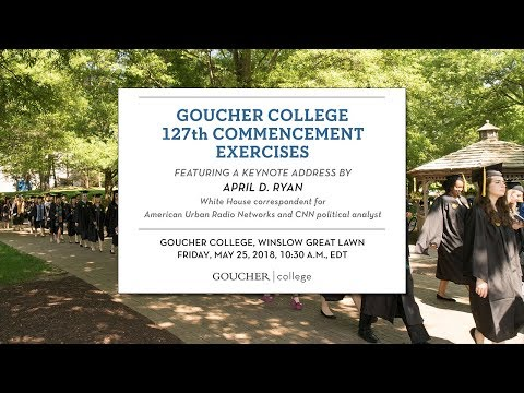 Goucher College Commencement 2018