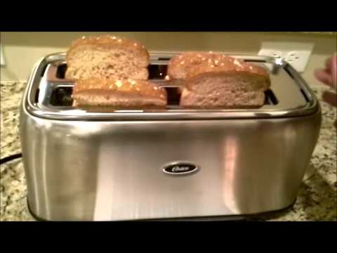 Review of the Oster 4 slice long slot toaster