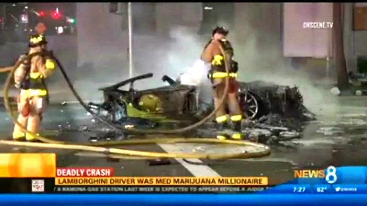 lamborghini driver killed in crash was medical marijuana millionaire