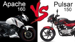 tvs apache rtr 160 vs bajaj pulsar 150   comparison review
